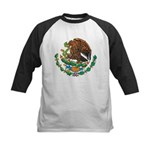 Mexico Coat Of Arms Kids Baseball Jersey
