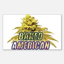 Baked American Sticker (Rectangle)
