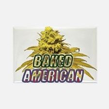 Baked American Rectangle Magnet