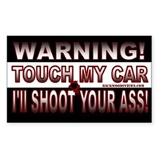 Warning Don't touch my car!