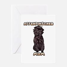 Affenpinscher Mom Greeting Card