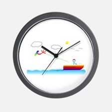 Cute Skis Wall Clock