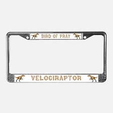 Velociraptor License Plate Frame
