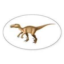 Velociraptor Oval Decal