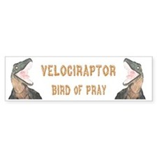 Velociraptor Bumper Bumper Sticker