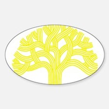 Oakland Tree Yellow Decal