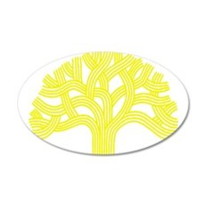 Oakland Tree Yellow 22x14 Oval Wall Peel