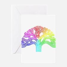 Oakland Tree Rainbow Greeting Card