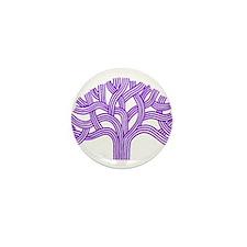 Oakland Tree Purple Mini Button