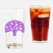 Oakland Tree Purple Drinking Glass