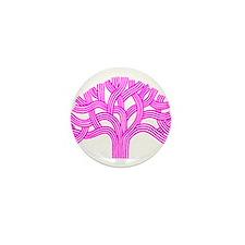 Oakland Tree Pink Mini Button