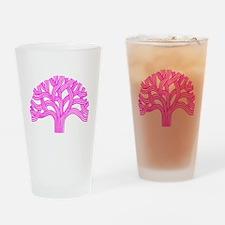 Oakland Tree Pink Drinking Glass