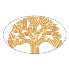 Oakland Tree Orange Decal