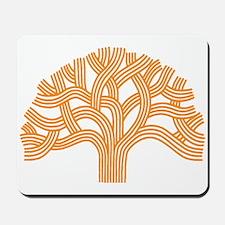 Oakland Tree Orange Mousepad