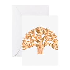 Oakland Tree Orange Greeting Card
