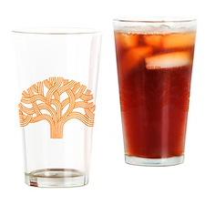 Oakland Tree Orange Drinking Glass