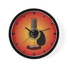 acoustic guitar cherry sunburst Wall Clock
