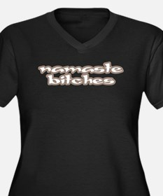 Funny and Witty Women's Plus Size V-Neck Dark T-Sh