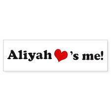 Aliyah loves me Bumper Bumper Sticker