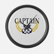 Captain Large Wall Clock
