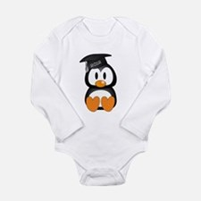Custom Graduation Penguin Long Sleeve Infant Bodys