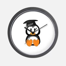 Custom Graduation Penguin Wall Clock