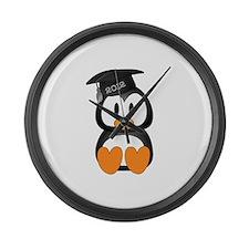 Custom Graduation Penguin Large Wall Clock