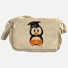 Custom Graduation Penguin Messenger Bag