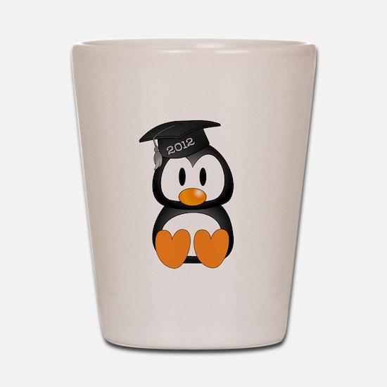 Custom Graduation Penguin Shot Glass