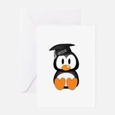 Custom Graduation Penguin Greeting Card