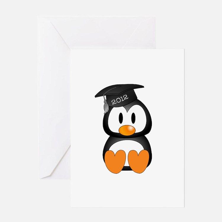 Custom Graduation Penguin Greeting Card