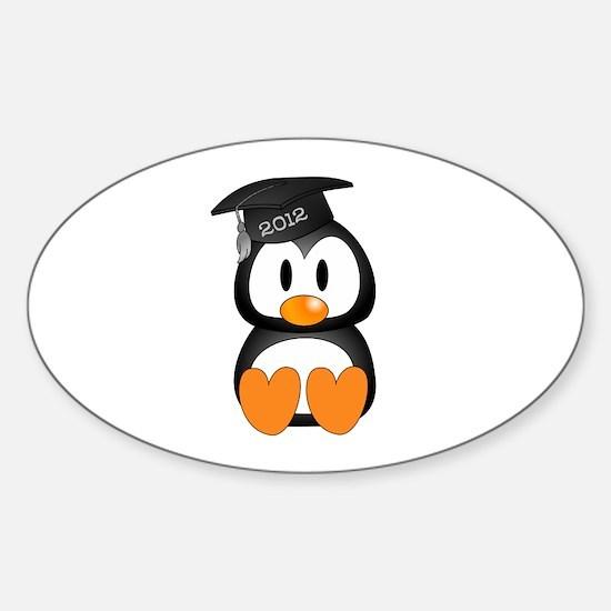 Custom Graduation Penguin Sticker (Oval)