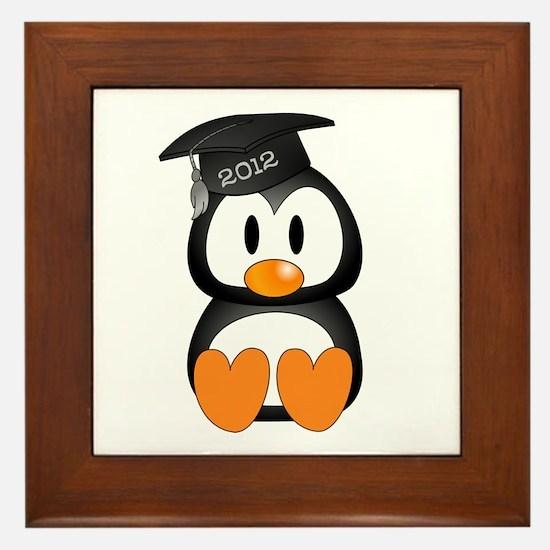 Custom Graduation Penguin Framed Tile