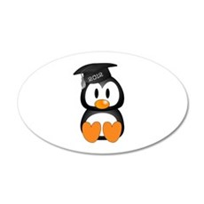 Custom Graduation Penguin 22x14 Oval Wall Peel