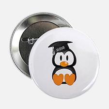 """Custom Graduation Penguin 2.25"""" Button"""