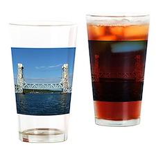 Portage Lake Lift Bridge Drinking Glass