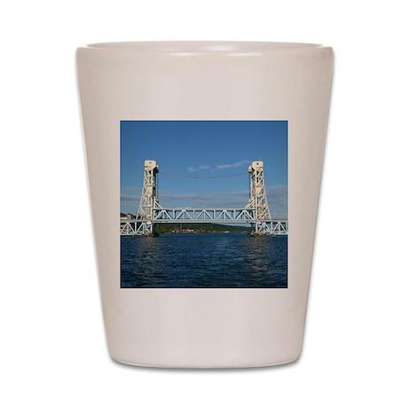 Portage Lake Lift Bridge Shot Glass