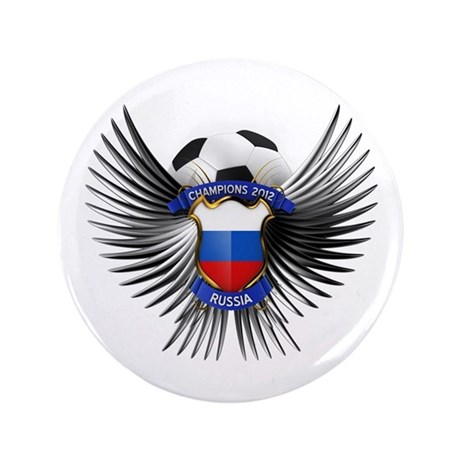 """Russia 2012 Soccer Champions 3.5"""" Button (100 pack"""