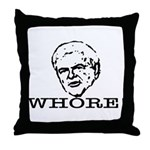 Newt Gingrich: Whore Throw Pillow