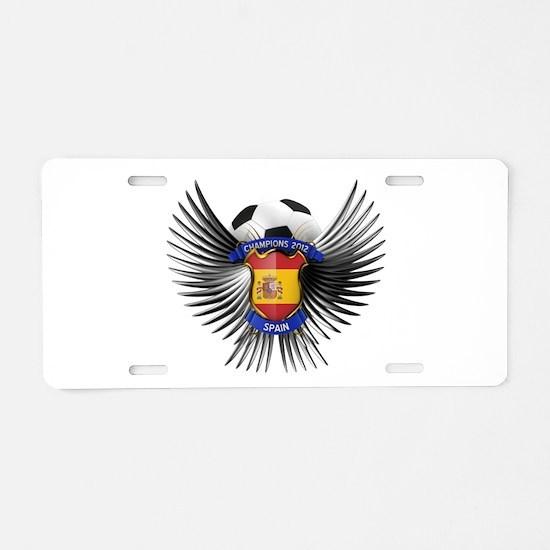 Spain 2012 Soccer Champions Aluminum License Plate