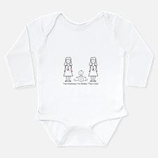 LGBT 2 Mommies Long Sleeve Infant Bodysuit