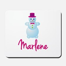 Marlene the snow woman Mousepad
