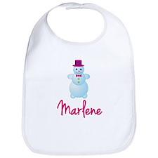Marlene the snow woman Bib