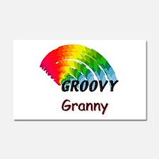 Groovy Granny Car Magnet 20 x 12