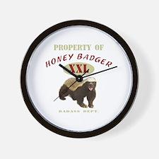 Property of Honey Badger Wall Clock