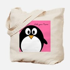 Add NAME - Penguin PINK Tote Bag