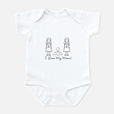 Love My Moms (LGBT) Infant Bodysuit