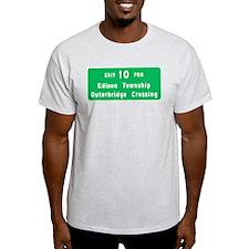 Exit 10, Edison Ash Grey T-Shirt