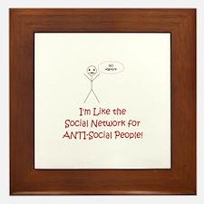 Anti-Social Network Framed Tile