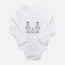 2 Dads (LGBT) Long Sleeve Infant Bodysuit